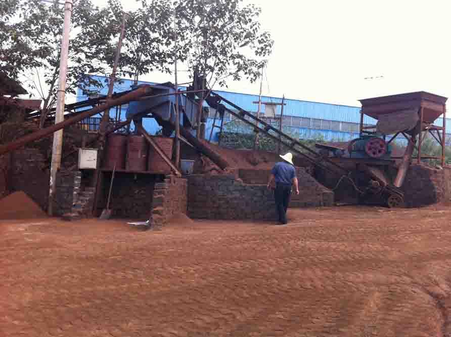 锰砂生产现场