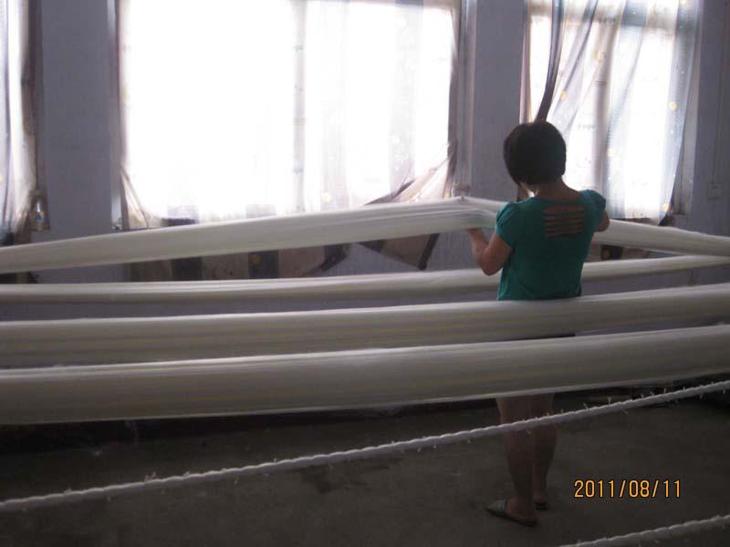 纤维滤料生产现场